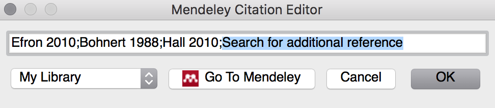 Mendeley Citiation Editor